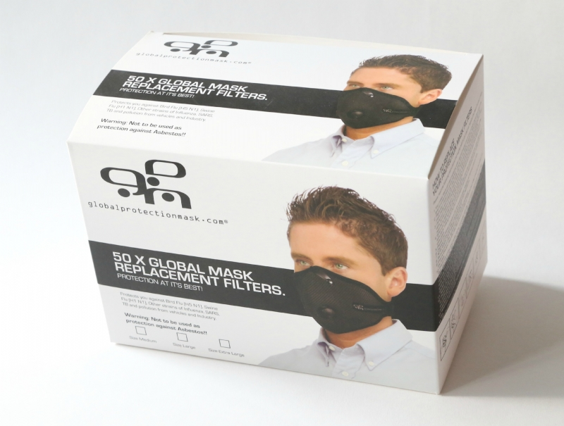 Global Protection Mask Replacement Filters x 50