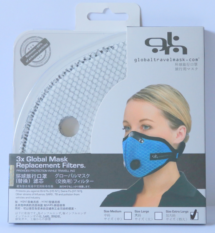 Global Travel Mask Replacement Filters x3